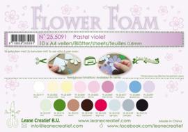 25.5091 Flower foam sheets A4 0.8mm. Pastel violet - per stuk