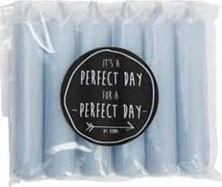 Diner kaarsjes - Perfect Day - Chalk 6 stuks