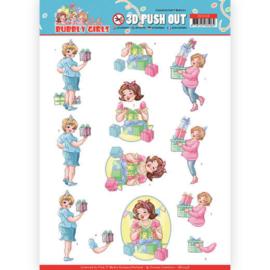 SB10438 Stansvel A4 - Bubbly Girls - Yvonne Design