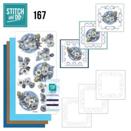Stitch and Do 167 - set voor 3 borduurkaarten
