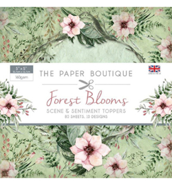 PB1200 Paperpad 12.5 x 12.5 cm Forest Blooms  - The Paper Boutique