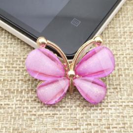 Vlinder Rhinestone - Lila - per stuk