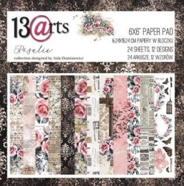 Paperpad 15,2 x 15,2 cm - 24 vel - Rosalie - 13@arts
