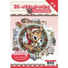 3DPO10003NL - 3D uitdruk vellen boek Kerst - Kerstcollectie