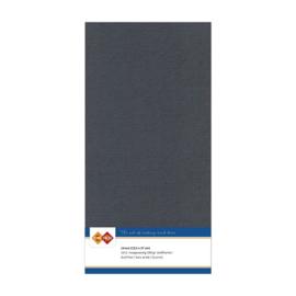 36 Donkergrijs - Linnen Kaarten 4 kant 13.5x27cm - 10 stuks - 200 grams - Card Deco