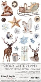 CC-DOD-SW-MM12 Extras to Cut Set Snowy Winterland, Mixed Media, 15,5x30,5cm, mirror print, 250 gsm (12 sheets, 6 designs, 2x6 double-sided sheets + bonus design on the cover)