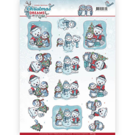 CD11133 Knipvel A4 - Christmas Dreams - Yvonne Creations