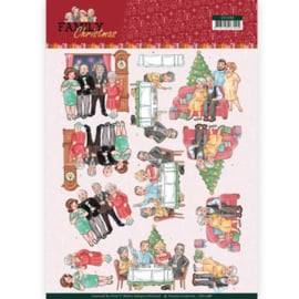 CD11388  3D vel A4 - Family Christmas - Yvonne Creations