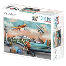 ADPZ1013 Jigsaw puzzel 1000 pc - Amy Design - Planes - PAKKETPOST!