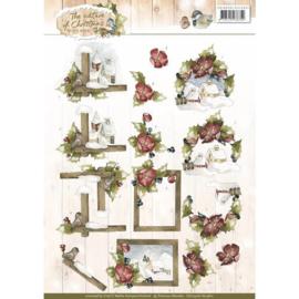 CD10906 Knipvel A4 - The Nature Christmas - Marieke Design