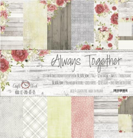 Paperpad 30.5 x 30.5 cm Always Together - 6 vel - Craft-O-Clock