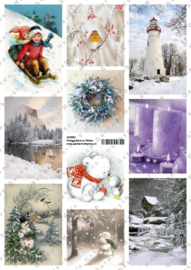 GH3162 Vintage vel - Kerst/Winter - Gerda's Hobbyshop