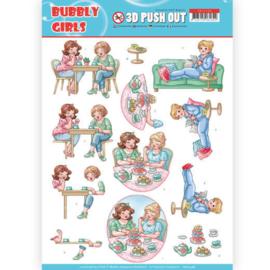 SB10348 Stansvel A4 - Bubbly Girls - Yvonne Design