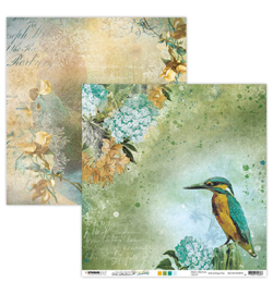 JMA-NA-SCRAP33 - JMA Scrap Kingfisher & Waterfall New Awakening nr.33 - Scrappapier