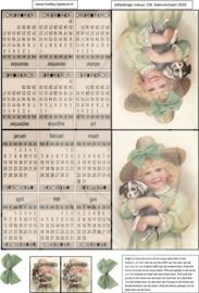 JDN156 Vintage vel A4 Natuur Kalender - Jellie Design