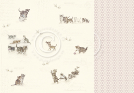 PD12005 Scrappapier Dubbelzijdig - Our Furry Friends - Pion Design