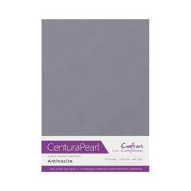 Antracite  - Glanskarton A4 310 grams - 10 vel - Centura Pearl