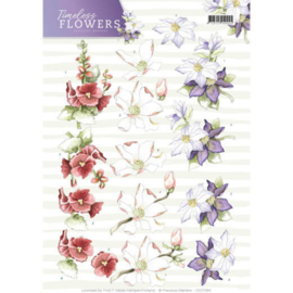 CD11084 Knipvel A4 - Timeless Flowers - Marieke Design