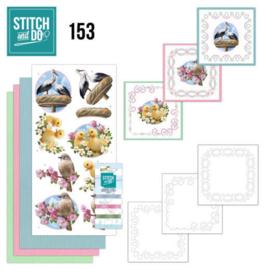 Stitch and Do 153- set voor 3 borduurkaarten