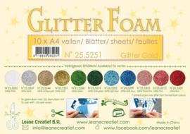 25.5251 Glitter foam sheets A4 Glitter Gold - per stuk