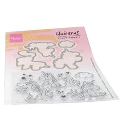 EC0180 Clearstempel Elines Animals Unicorns - Marianne Design