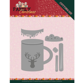 YCD10186 Snij- en embosmal - Family Christmas - Yvonne Creations