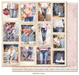 1038 Scrappapier dubbelzijdig - Denim en Girls - Maja Design