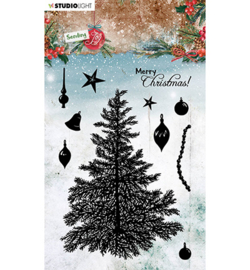 SL-SJ-STAMP53 - SL Clear stamp Build a Christmas tree Sending Joy nr.56