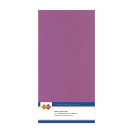 38 Aubergine - Linnen Kaarten 4 kant 13.5x27cm - 10 stuks - 200 grams - Card Deco