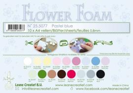 25.5077 Flower foam sheets A4 0.8mm. Pastel blue - per stuk
