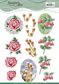 CD11587 3D Knipvel A4  Kerst - Jeanine's Art