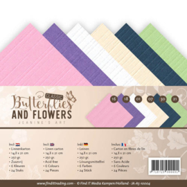 JAA510002 A5 Karton - Classic Butterflies and Flowers - Jenine's Art