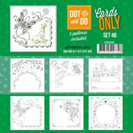 CODO048 Dot en Do 4kant Cards Only nr. 48 - 6 stuks