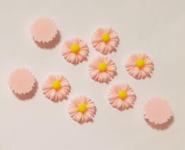 Acryl Flowers Margriet - 10 stuks - Licht Rose