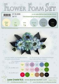 25.5008 Flower Foam Set 10 - 0.8mm - black-grey colours