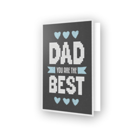 DDG.013 Diamond Dotz - Greeting Card - Best Dad