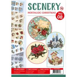 POS10008 Push Out book Scenery 8 - Nostalgic Christmas