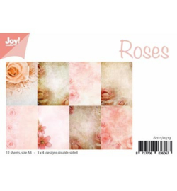 6011/0513 Paperbloc A4 a 12 vel - Roses - Joy Crafts