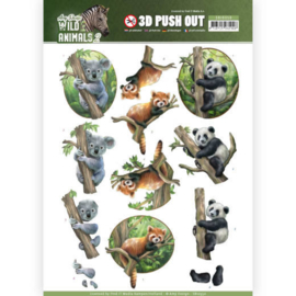 SB10350 3D Stansvel A4 - Wild Animals - Amy Design
