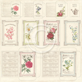 PD3608 Scrappapier Dubbelzijdig - Vintage Garden - Pion