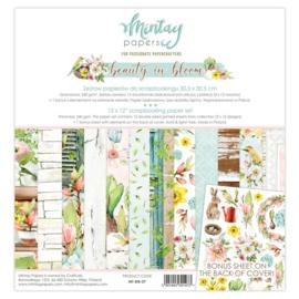 Paperpad 30.5x30.5cm - Beauty in Bloom - Mintay * PAKKETPOST *