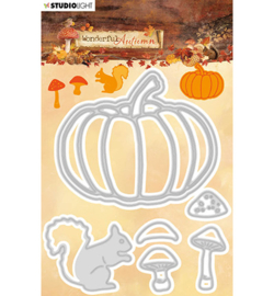 STENCILWA309 Snij- en embos stencil - Wonderful Autumn - Studio Light
