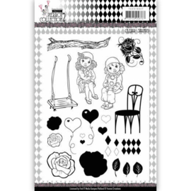 YCCS10047 Clearstempel - Pretty Pierrot 2 - Yvonne Creations