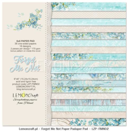 Paperpad 15.2 x 15.2 cm Forget me Not 36 vel - Lemon Craft