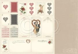 PD6812 Scrappapier dubbelzijdig - To My Valentine - Pion Design