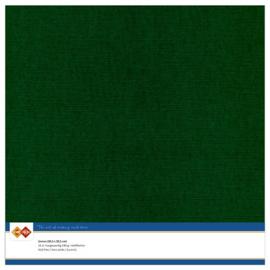 23 Kerstgroen - Linnen Karton 30,5 x 30,5cm - 10 stuks - 200 grams - Card Deco - PAKKETPOST!!