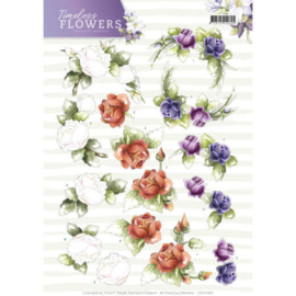 CD11082 Knipvel A4 - Timeless Flowers - Marieke Design