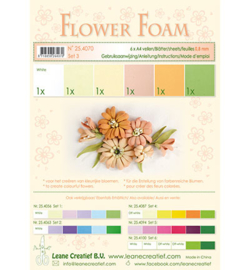 25.4070 Flower Foam - 6 vellen A4 0.8mm - Leane Creatief
