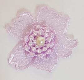 Kanten Bloemen Lila - 5 stuks
