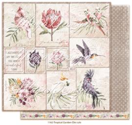 1162 Scrappapier dubbelzijdig -  Tropicial Garden - Maja Design